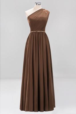 Designer Brautjungfernkleider Lang Weinrot   Chiffon Kleider Abendkleider_12