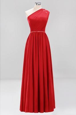 Designer Brautjungfernkleider Lang Weinrot   Chiffon Kleider Abendkleider_8