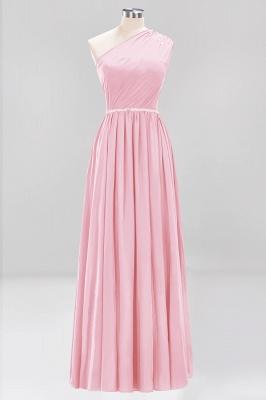 Designer Brautjungfernkleider Lang Weinrot   Chiffon Kleider Abendkleider_4