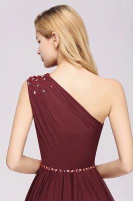 Designer Brautjungfernkleider Lang Weinrot   Chiffon Kleider Abendkleider_39