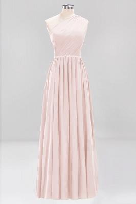 Designer Brautjungfernkleider Lang Weinrot   Chiffon Kleider Abendkleider_5
