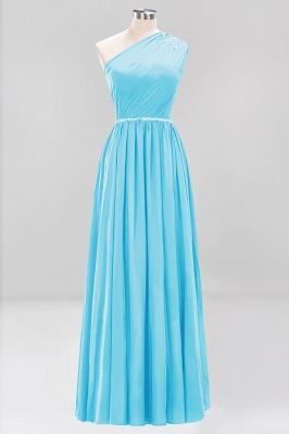 Designer Brautjungfernkleider Lang Weinrot   Chiffon Kleider Abendkleider_23