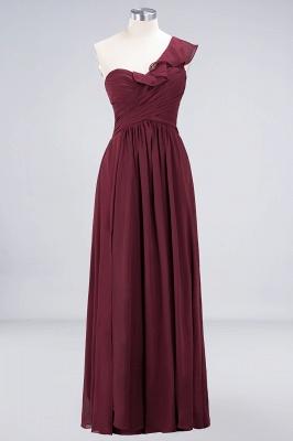 Elegante Brautjungfernkleider Weinrot | Chiffon Kleider Günstig_9