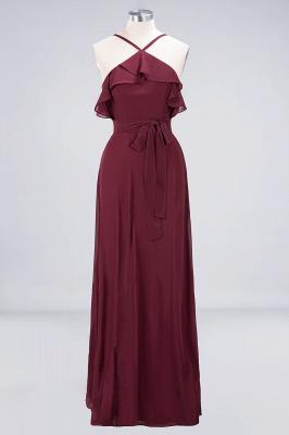 Weinrote Abendkleider Lang Günstig | Brautjungfernkleider Online Kaufen_8