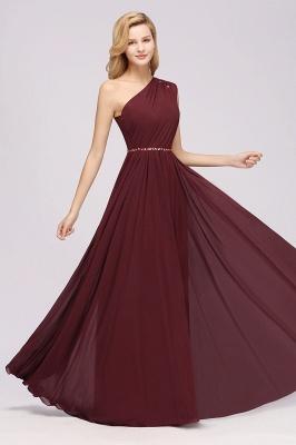 Designer Brautjungfernkleider Lang Weinrot   Chiffon Kleider Abendkleider_37