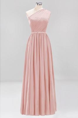 Designer Brautjungfernkleider Lang Weinrot   Chiffon Kleider Abendkleider_6