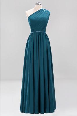 Designer Brautjungfernkleider Lang Weinrot   Chiffon Kleider Abendkleider_26
