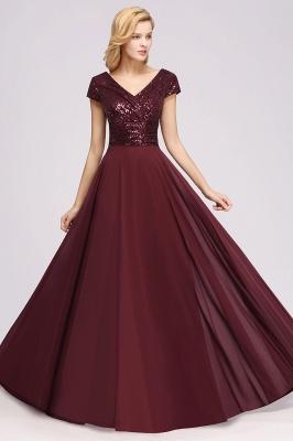 Brautjungfernkleider Lang Günstig | Hochzeitspartykleider Abendkleid Glitzer_5