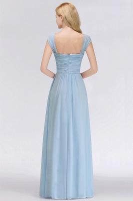 Abendkleider Lang Blau | Brautjungfernkleider Chiffon Günstig_2