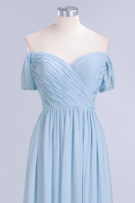 Abendkleider Lang Blau | Brautjungfernkleider Chiffon Günstig_5