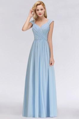 Abendkleider Lang Blau | Brautjungfernkleider Chiffon Günstig_1