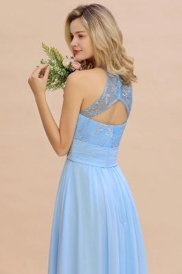 Abendkleider Lang Blau | Brautjungfernkleider Chiffon Günstig_8