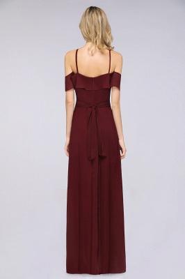 Weinrote Abendkleider Lang Günstig | Brautjungfernkleider Online Kaufen_2