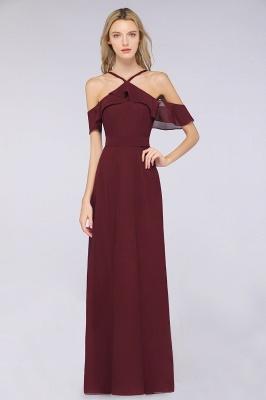 Weinrote Abendkleider Lang Günstig | Brautjungfernkleider Online Kaufen_1