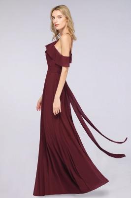 Weinrote Abendkleider Lang Günstig | Brautjungfernkleider Online Kaufen_4