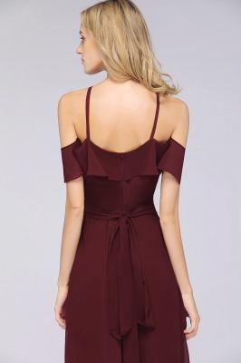 Weinrote Abendkleider Lang Günstig | Brautjungfernkleider Online Kaufen_7