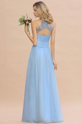 Abendkleider Lang Blau | Brautjungfernkleider Chiffon Günstig_3