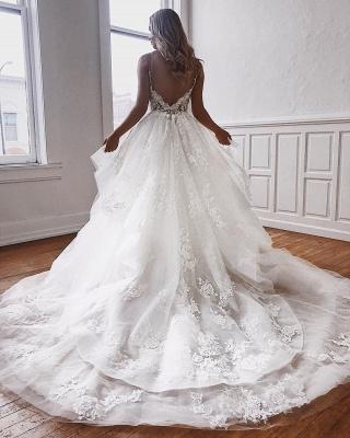 Designer Brautkleider Spitze   Hochzeitskleider A Linie Günstig_3