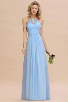 Abendkleider Lang Blau | Brautjungfernkleider Chiffon Günstig_6