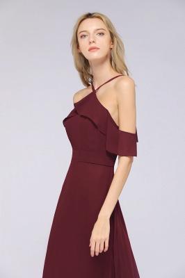 Weinrote Abendkleider Lang Günstig | Brautjungfernkleider Online Kaufen_6