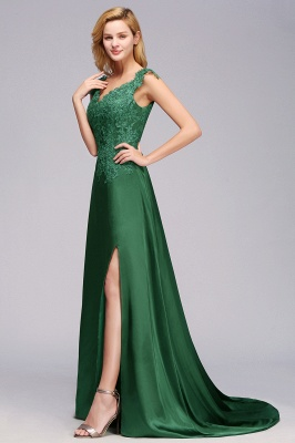 Schöne Abendkleider Dunkel Grün | Abendmoden Online_6