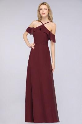 Weinrote Abendkleider Lang Günstig | Brautjungfernkleider Online Kaufen_3