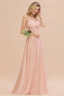 Brautjungfernkleider Lang Rosa   Chiffon Kleider Günstig Online_5