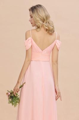 Brautjungfernkleider Lang Rosa | Chiffon Kleider Abendmoden_9