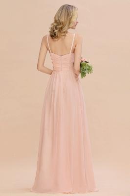 Brautjungfernkleider Lang Rosa   Chiffon Kleider Günstig Online_2