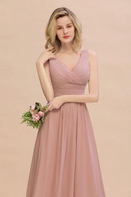 Günstige Brautjungfernkleider Altrosa | Chiffon Kleider Abendmoden Online_8