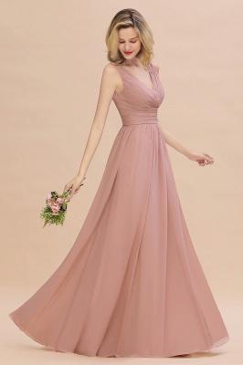 Günstige Brautjungfernkleider Altrosa | Chiffon Kleider Abendmoden Online_7