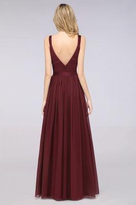 Schöne Abendkleider Weinrot | Brautjungfernkleider Lang Günstig_36
