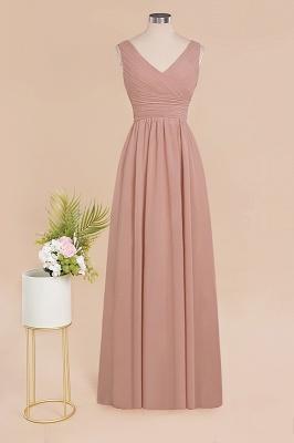 Günstige Brautjungfernkleider Altrosa | Chiffon Kleider Abendmoden Online_10