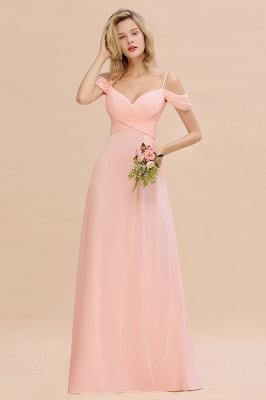 Brautjungfernkleider Lang Rosa | Chiffon Kleider Abendmoden_2