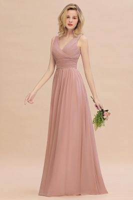 Günstige Brautjungfernkleider Altrosa | Chiffon Kleider Abendmoden Online_6