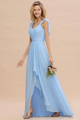 Baby Blau Brautjungfernkleider Chiffon | Brautjungfernkleid Lang Günstig_5