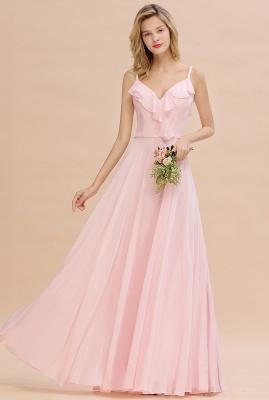 Elegante Brautjungfernkleider Rosa   Brautjungfernkleid Günstig Online_1