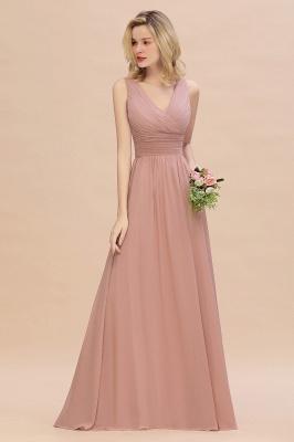 Günstige Brautjungfernkleider Altrosa | Chiffon Kleider Abendmoden Online_5