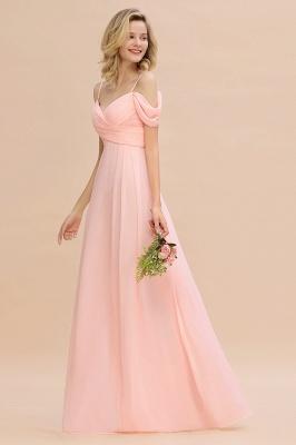 Brautjungfernkleider Lang Rosa | Chiffon Kleider Abendmoden_6