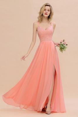 Abendkleider Lang Orange   Brautjungfernkleider Günstig_53