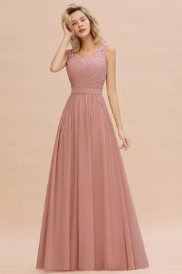 Altrosa Brautjungfernkleider Lang   Abendkleider Chiffon_4