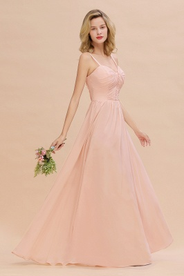 Brautjungfernkleider Lang Rosa   Chiffon Kleider Günstig Online_6