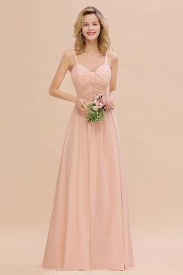 Brautjungfernkleider Lang Rosa   Chiffon Kleider Günstig Online_1