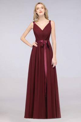 Schöne Abendkleider Weinrot | Brautjungfernkleider Lang Günstig_35