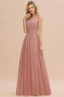 Altrosa Brautjungfernkleider Lang   Abendkleider Chiffon_1
