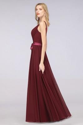 Schöne Abendkleider Weinrot | Brautjungfernkleider Lang Günstig_38