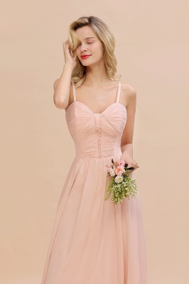 Brautjungfernkleider Lang Rosa   Chiffon Kleider Günstig Online_7