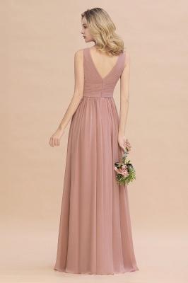 Günstige Brautjungfernkleider Altrosa | Chiffon Kleider Abendmoden Online_3