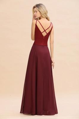 Brautjungfernkleider Weinrot | Günstige Kleider Online Kaufen_3