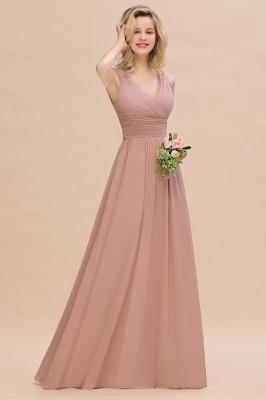 Günstige Brautjungfernkleider Altrosa | Chiffon Kleider Abendmoden Online_1